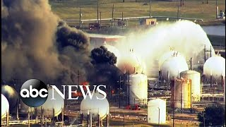 Community evacuated following explosion at refinery