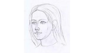 Как нарисовать девушку. Урок 55(На этом уроке мы познакомимся с тем, как нарисовать девушку, лицо в пол оборота, как нарисовать лицо в профил..., 2015-02-15T21:20:09.000Z)