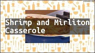 Recipe Shrimp and Mirliton Casserole