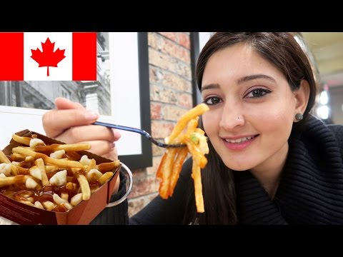 INDIAN PEOPLE TRY CANADIAN FOOD | POUTINE | TIM HORTONS | MONTREAL FOOD TOUR DAY 3