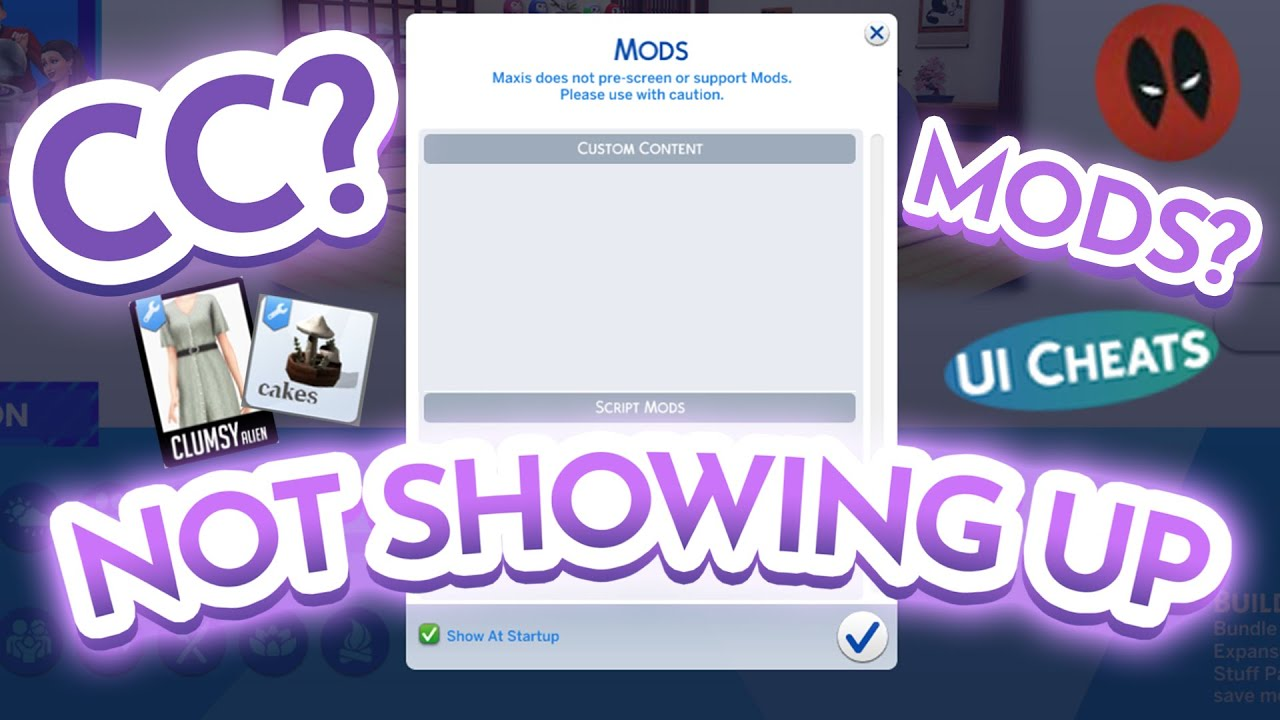 Sims 4 CC (Custom Content) Mods NOT SHOWING UP in game (CAS