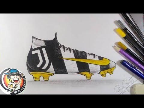 Como Desenhar A Chuteira Do Juventus Cr7 Youtube