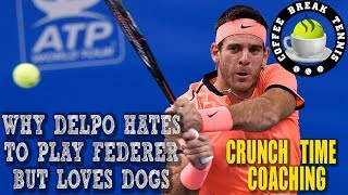 Why Delpo HATES playing Federer but Loves Dogs CBT QS#6
