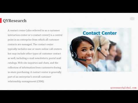 QYR: The EMEA market for Contact Center is expected to reach about 94384.37 Million USD by 2022