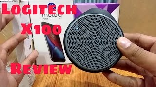 Logitech X100 Bluetooth Speaker Review !