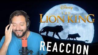 EL REY LEON TRAILER: MI REACCION (COLAPSO EMOCIONAL)