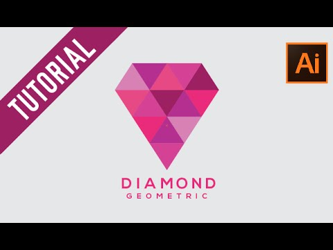 Adobe Illustrator Tutorial : How to make Geometric Logo | Diamond Geometric