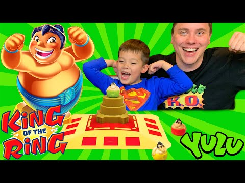 Family Game Night! Let's Play King Of The Ring Game By YULU. Who Will Win?