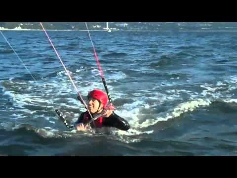 Jetty Island Kiteboarding Action
