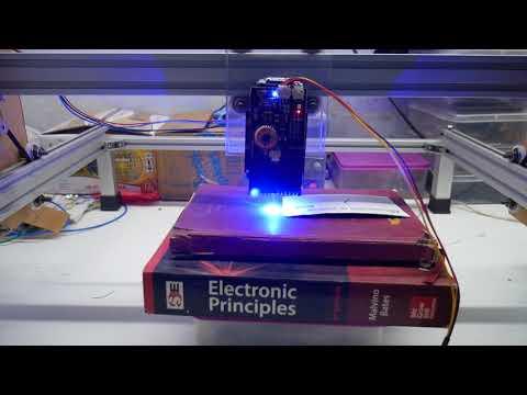 15watt laser engraver machine grbl 1.1 controller metal engraver video