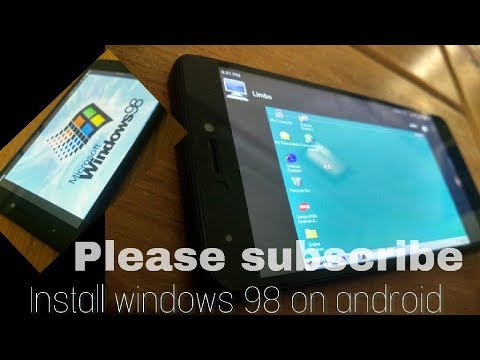 Install and run windows on android device(windows 98 step by step  installation on limbo)