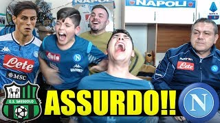 [GOD0] ASSURDOOO!!!! SASSUOLO-NAPOLI 1-2 | LIVE REACTION NAPOLETANI