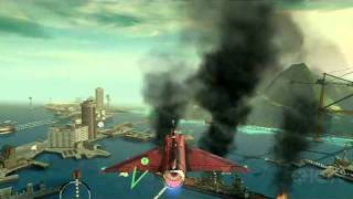 HAWX 2 Wii: Blowing up a Cruiser Gameplay