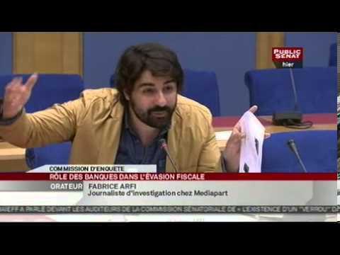 Audition M. Fabrice Arfi par la commission d'enquête contre la fraude fiscale