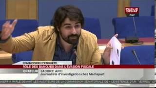 Audition M. Fabrice Arfi par la commission d\'enquête contre la fraude fiscale