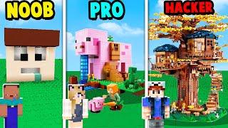MINECRAFT - LEGO CHALLENGE | NOOB vs PRO vs HAKER | Vito vs Bella
