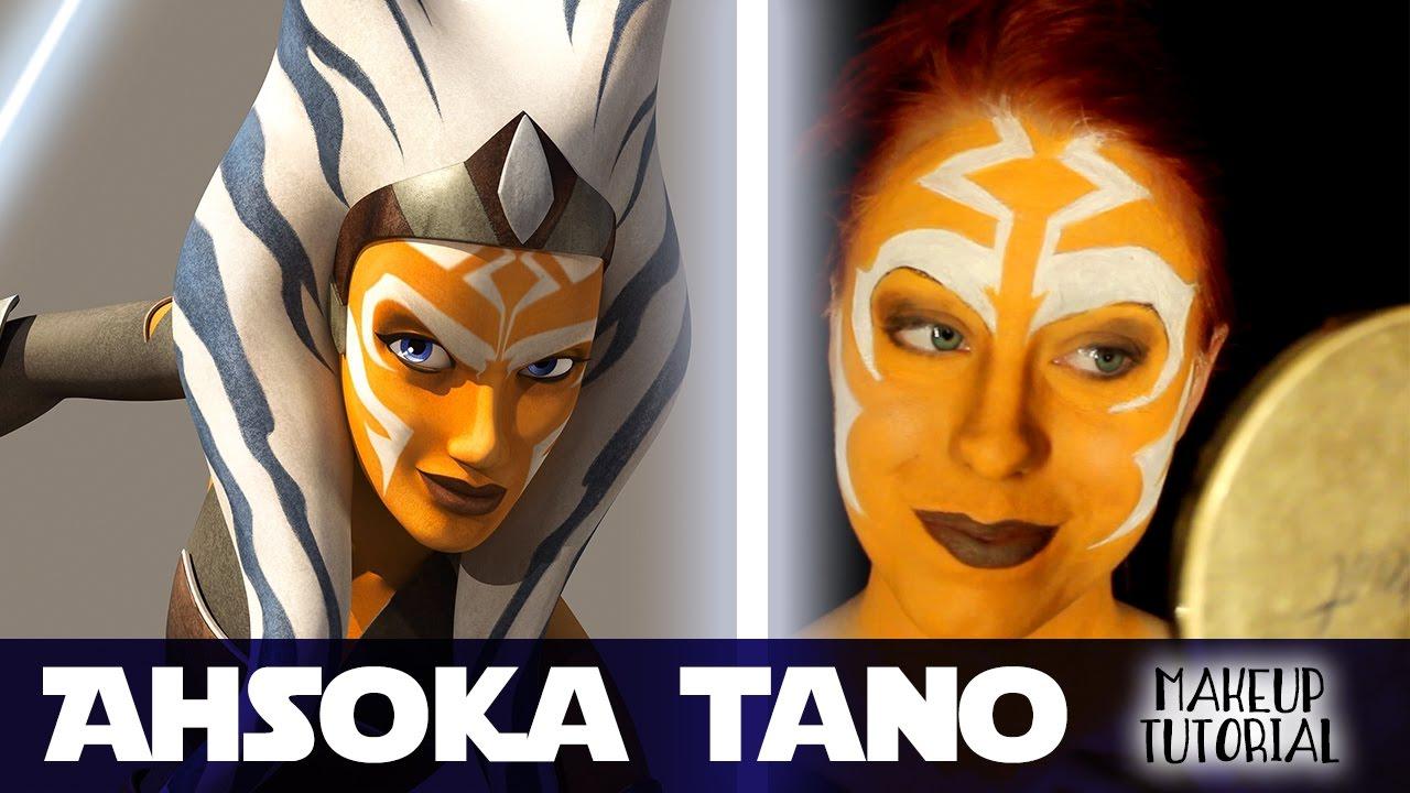 14b4f861dd Ahsoka Tano Makeup Tutorial (Waterbased makeup)