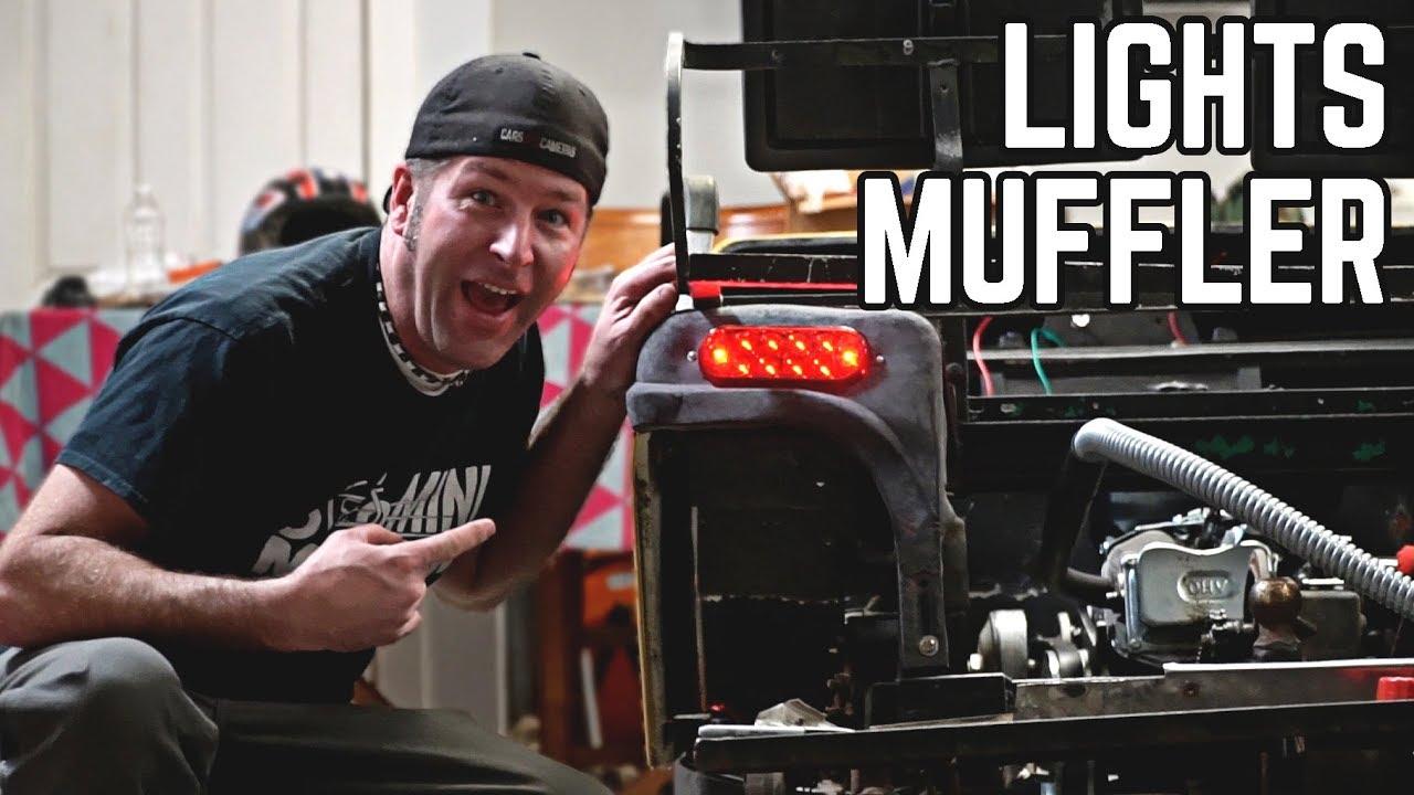 Golf Cart Pt  4 | Muffler Hack, Lights, Body Mounted! - YoutubeDownload pro