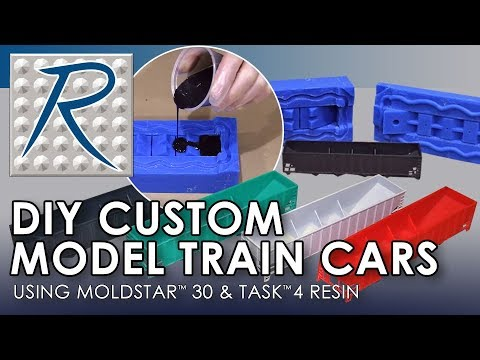 Make Your Own Custom Model Train Cars Using Silicone Rubber and Urethane Plastic