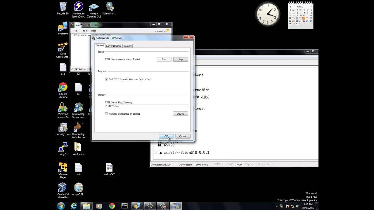 ASA 5505 Flash Load Using TFTP Server