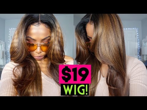 $19 BEST WIG OF 2019! BOMB AF ASH BLONDE COLOR MELT LACE FRONTAL 'JUNE' JANET COLLECTION Mp3