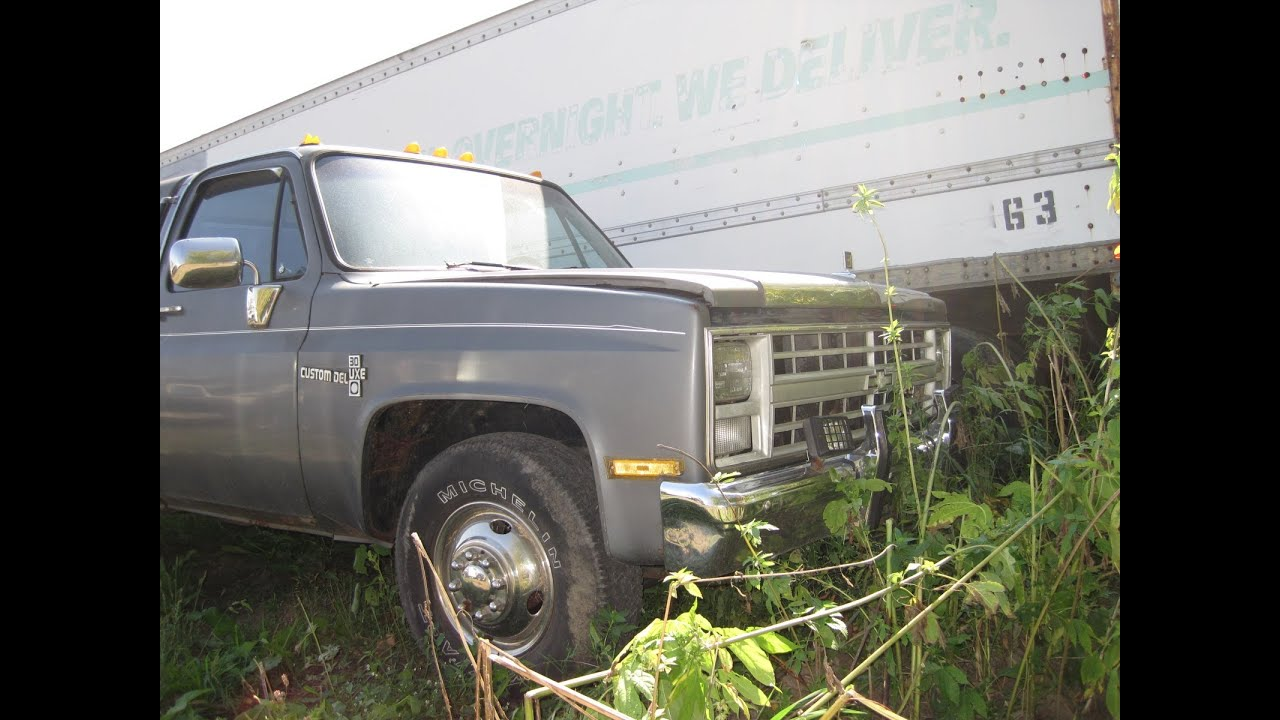 1987 Chevy 30 Dually 4spd 2wd 454 reg cab long bed w-sleeper cap! 76K miles  1202 SOLD