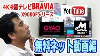 ソニー4K液晶テレビBRAVIA X9000Fシリーズの無料ネット動画編 液晶テレビ 検索動画 2