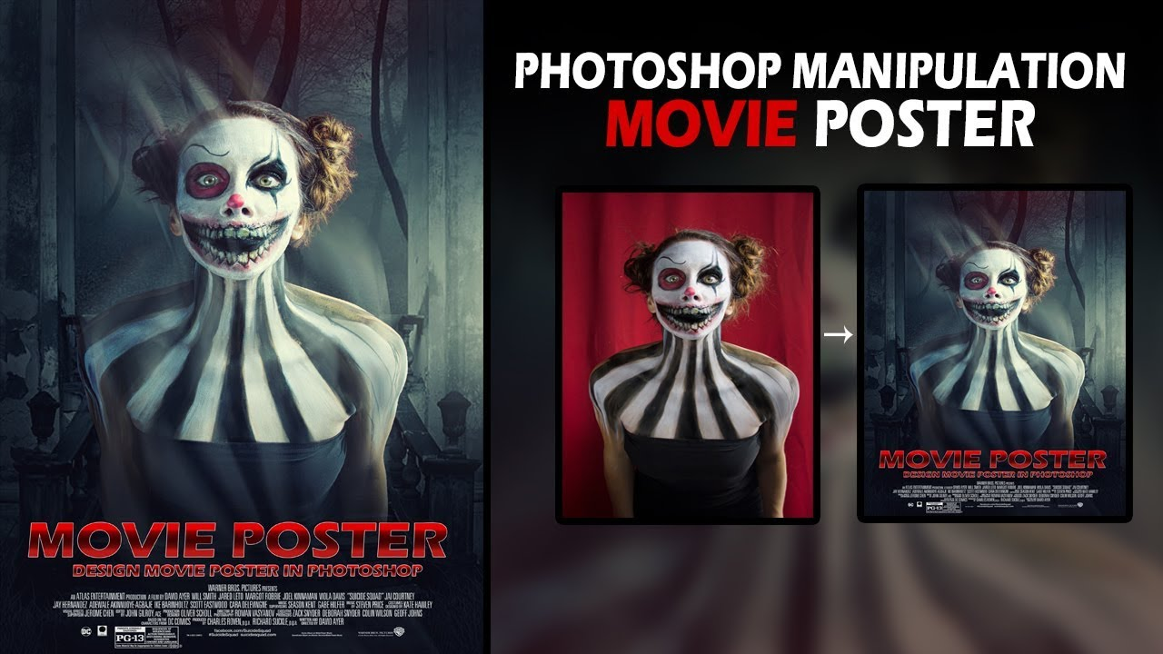 Horror Movies 2018 Poster: Make Horror Movie Poster In Photoshop CC 2018