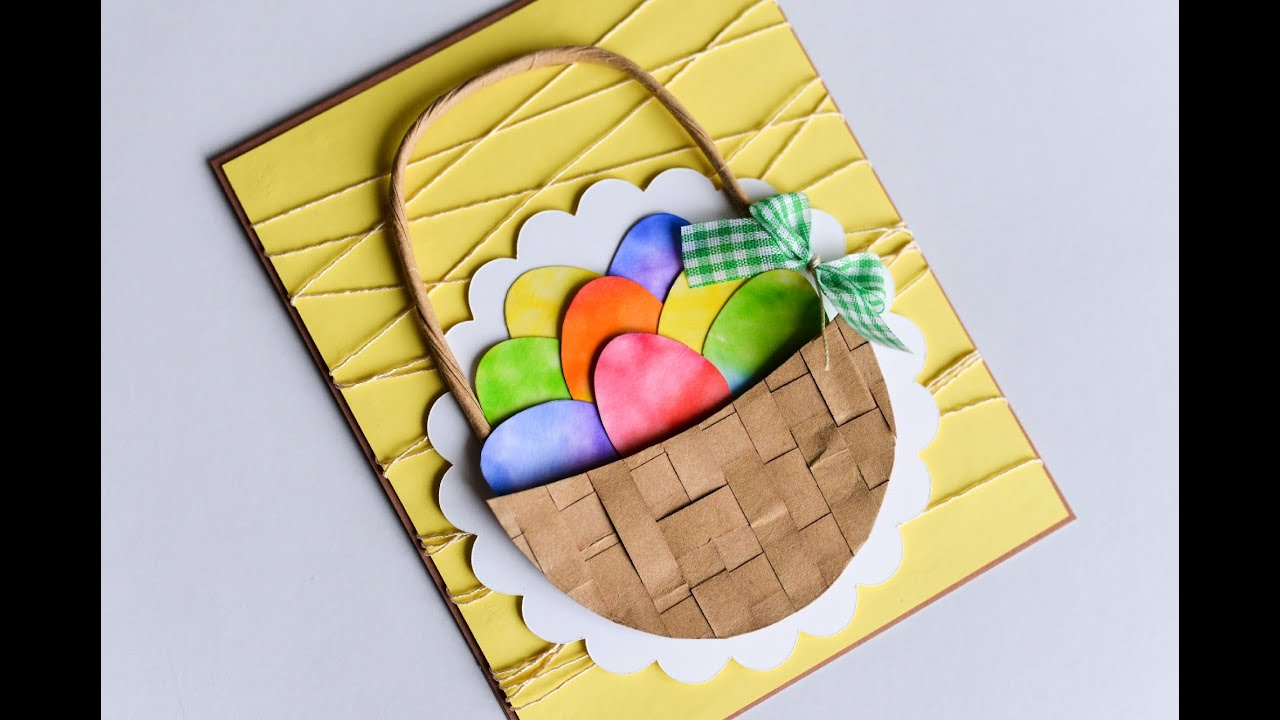 how to make easter egg basket spring card step by step kartka
