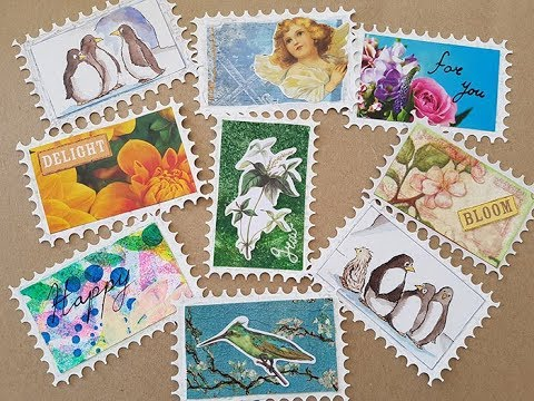 Postage Stamps Embellishments