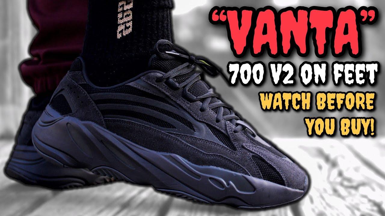 new product 085fe ab97e WORTH $300!? VANTA ADIDAS YEEZY BOOST 700 V2 ON FEET REVIEW!