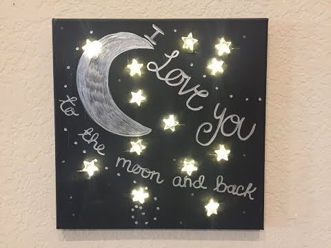 DIY Light Up Starry Canvas