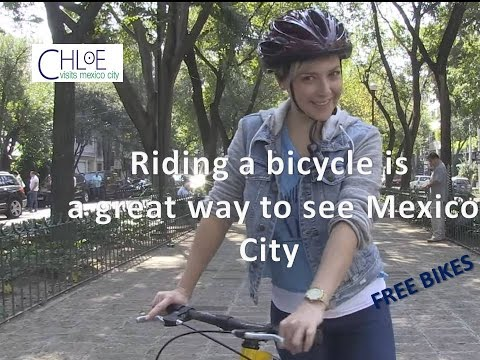 Riding a bicycle is a great way to see Mexico City. The Ecobici or free bike systems.