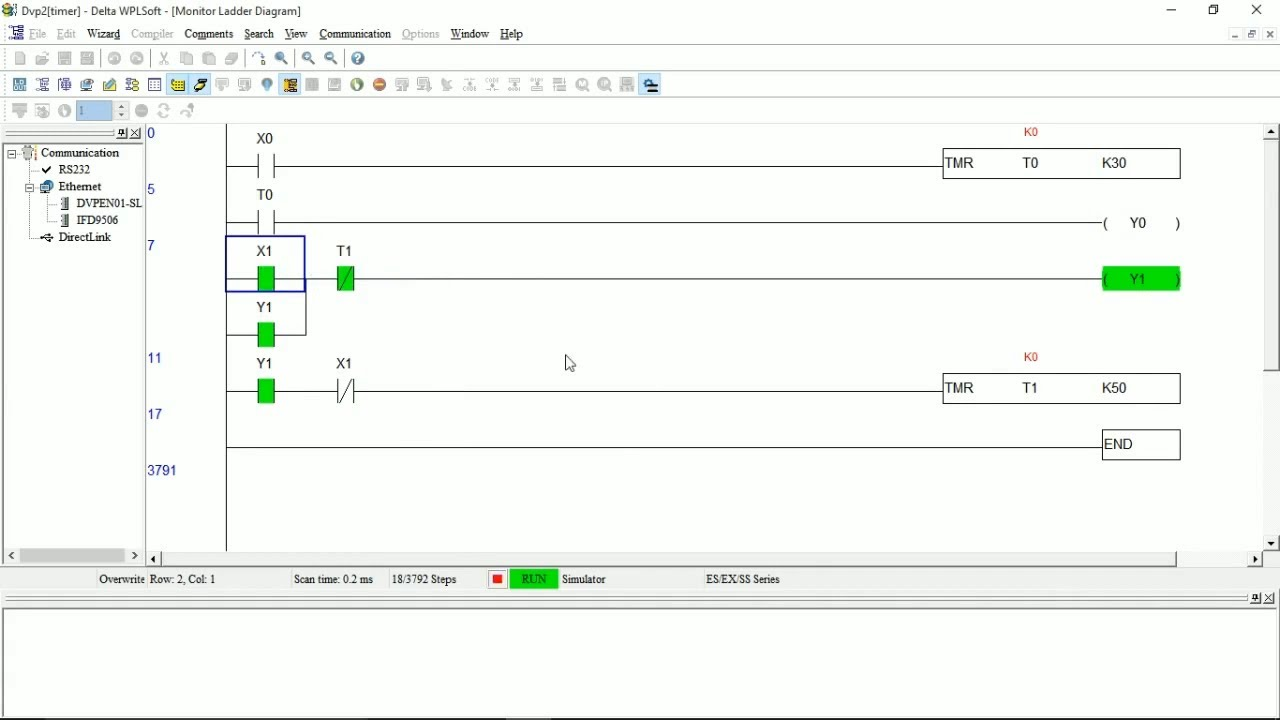 Plc Ladder Programming On Delay And Off Delay Timer In Delta Wplsoft