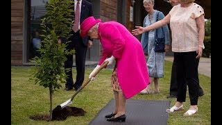 Queen reproves offer of help to plant tree, saying 'no, no, I can still plant a tree'