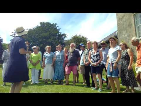 Wild Harmony choir at Sharpham's Summer Open Day 2017