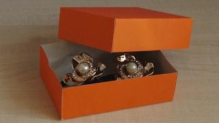 Как сделать коробочку из картона или бумаги своими руками. Коробка для подарка.
