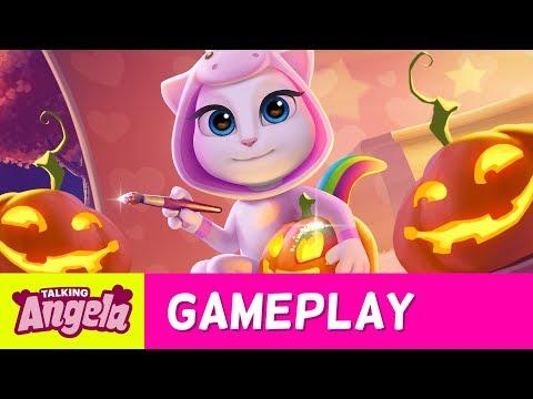 Talking Angela - Unicorn Halloween Party in 5 Steps