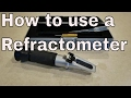salt level in aquarium : how to measure salinity : using a refractometer