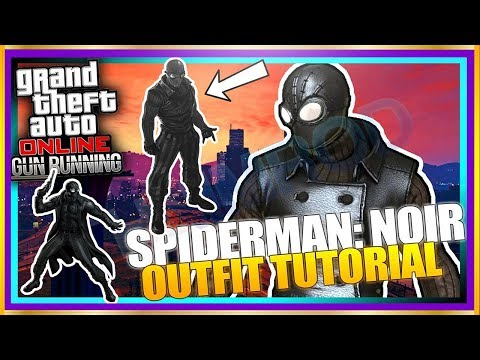GTA 5 Online 'SPIDERMAN NOIR' SICK Rare Outfit Glitch Tutorial! BLACK SPIDERMAN Themed Clothing 1.40