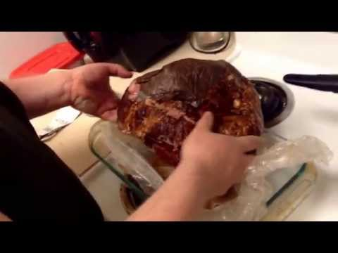 how to prepare a cooked ham