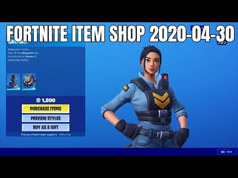Waypoint Skin Set Is Back - Fortnite Item Shop (2020-04-30)