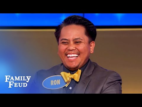 LOL! Ron the 'egg-man' lays a couple CRAZY answers! | Family Feud