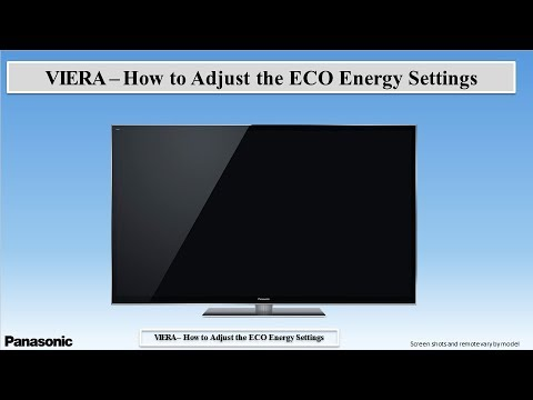 Panasonic VIERA - How To Adjust The ECO Energy Power Off Settings