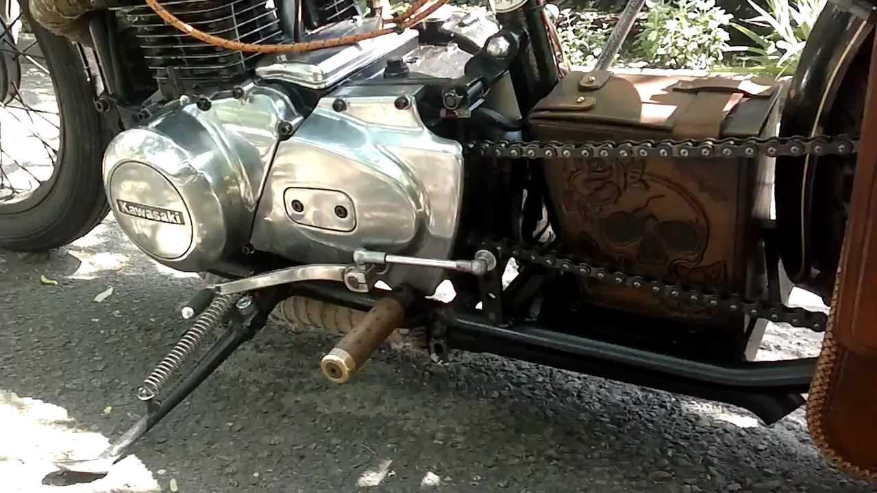 Kawasaki Kz440 bobber - YouTube