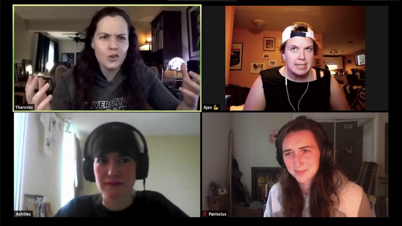 Quarantine Clips: Troilus & Cressida Zoom Rehearsal