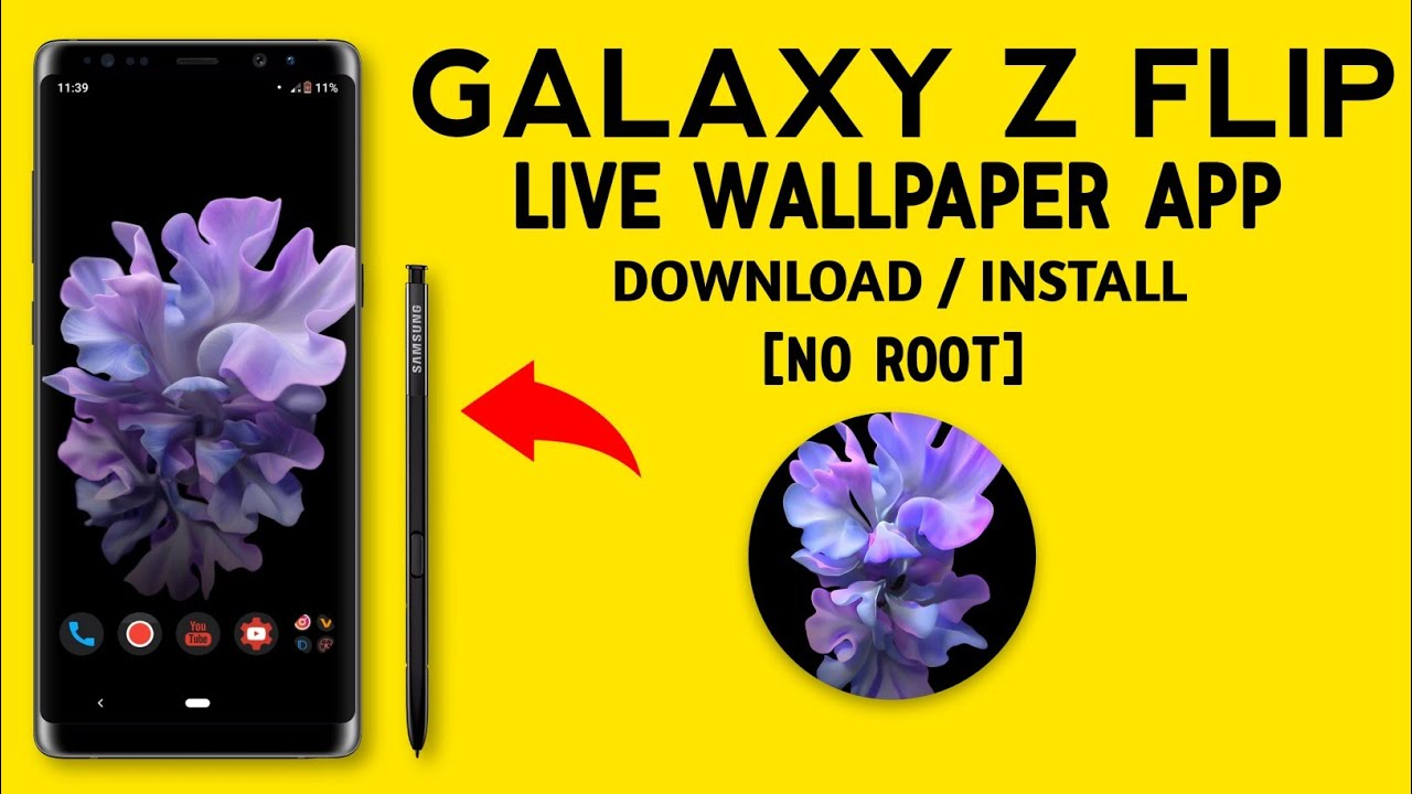 Galaxy Z Flip Live Wallpaper App Download Install Technical Pic 2020 Youtube