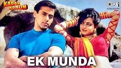 Ek Munda - Video Song | Karan Arjun | Salman Khan & Mamta Kulkarni | Lata Mangeshkar