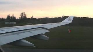 A330-200 Emirates take off Durban to Dubai