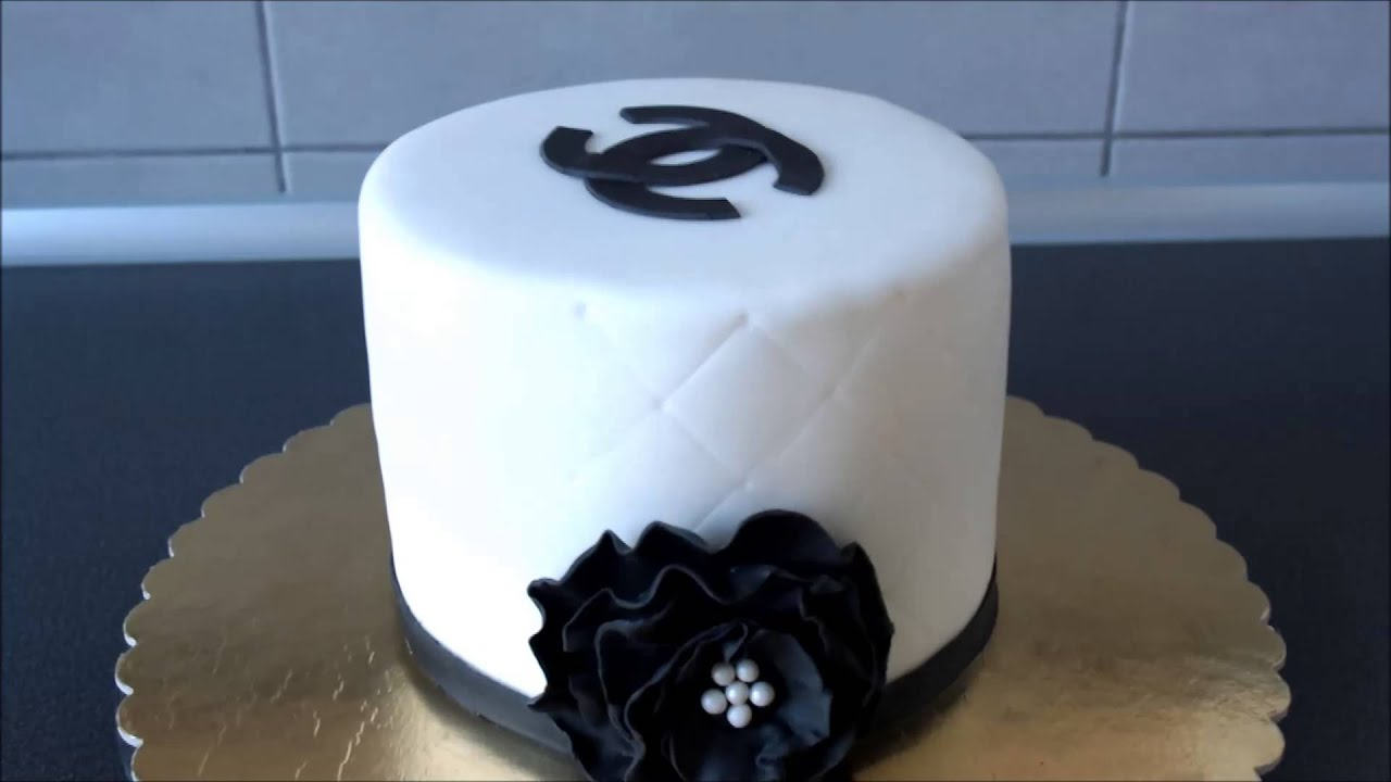 How To Make A Chanel Fondant Cake
